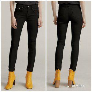 Rag & Bone High Rise Ankle Skinny Raw Hem Jeans 27